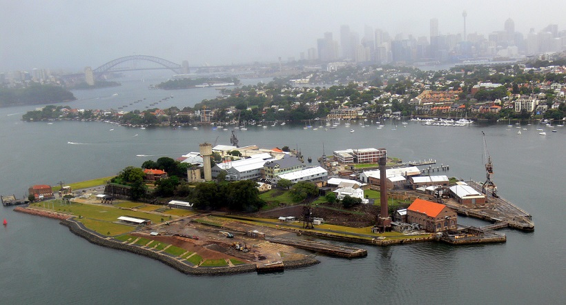 Camping in Cockatoo Island_Sydney Harbor Australia