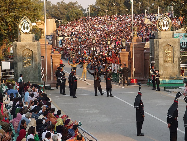 Wagah border flag ceremony India Pakistan International border