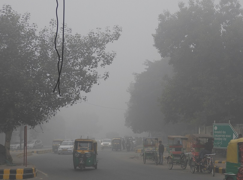 delhi morning fog_road trip to Amritsar