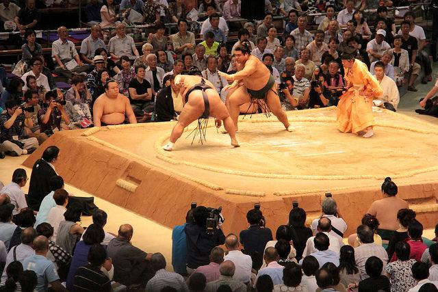 Sumo practice Japan