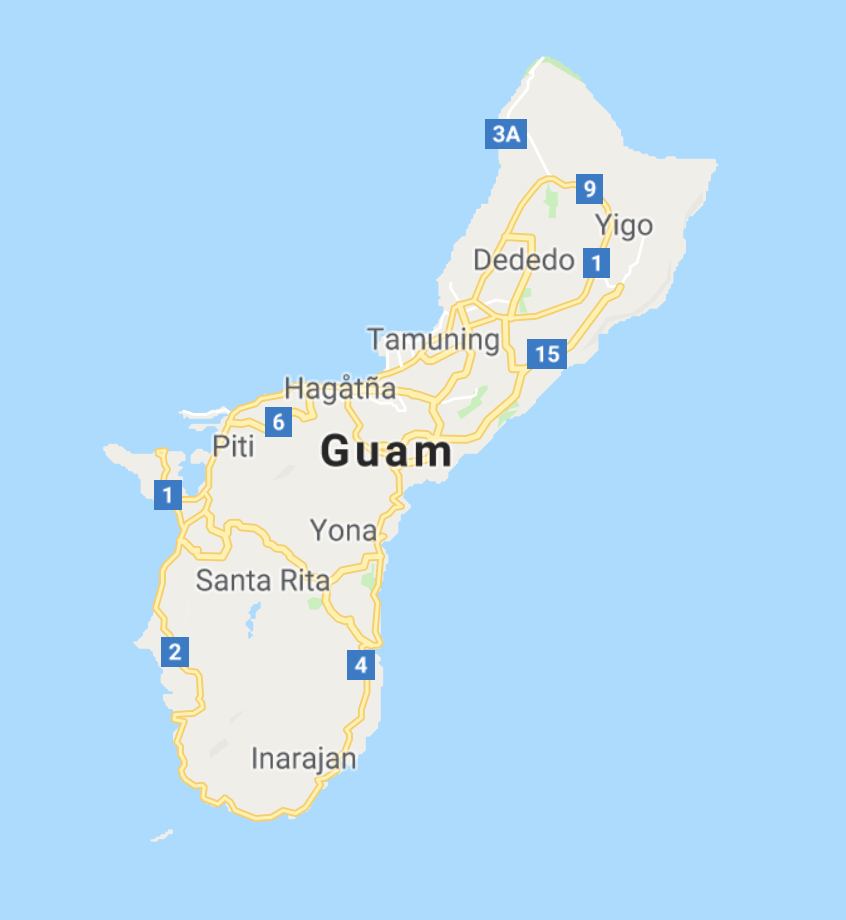 Map of Guam_travel Guide