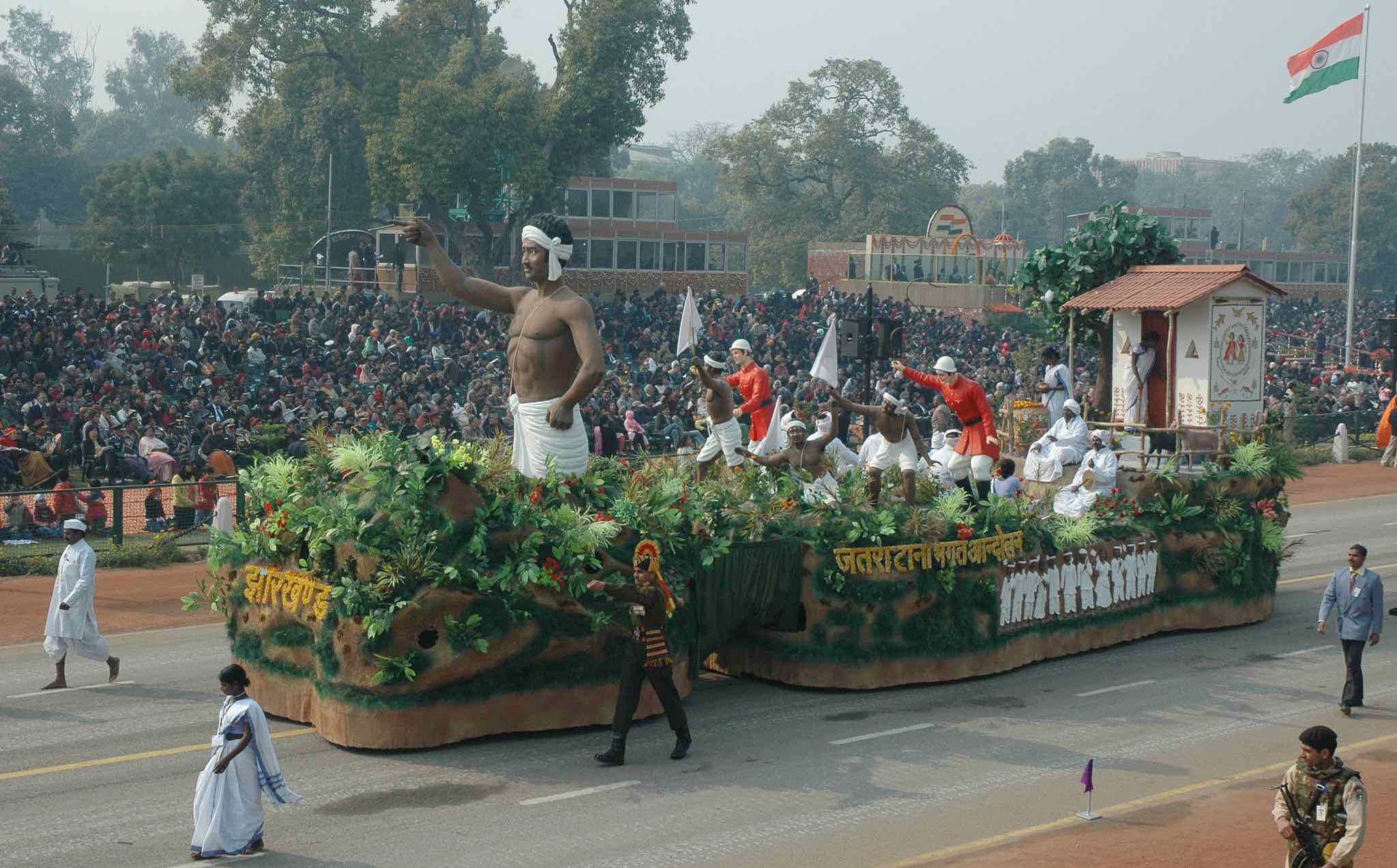 The tableau of Jharkhand passes through the Rajpath during the 59th Republic Day Parade in New Delhi on January 26_PD