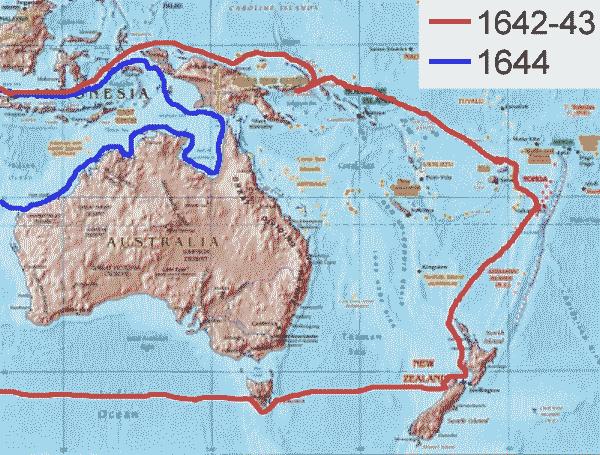 Tasman_Voyage_Route_to Tasmania and New Zealand_PD