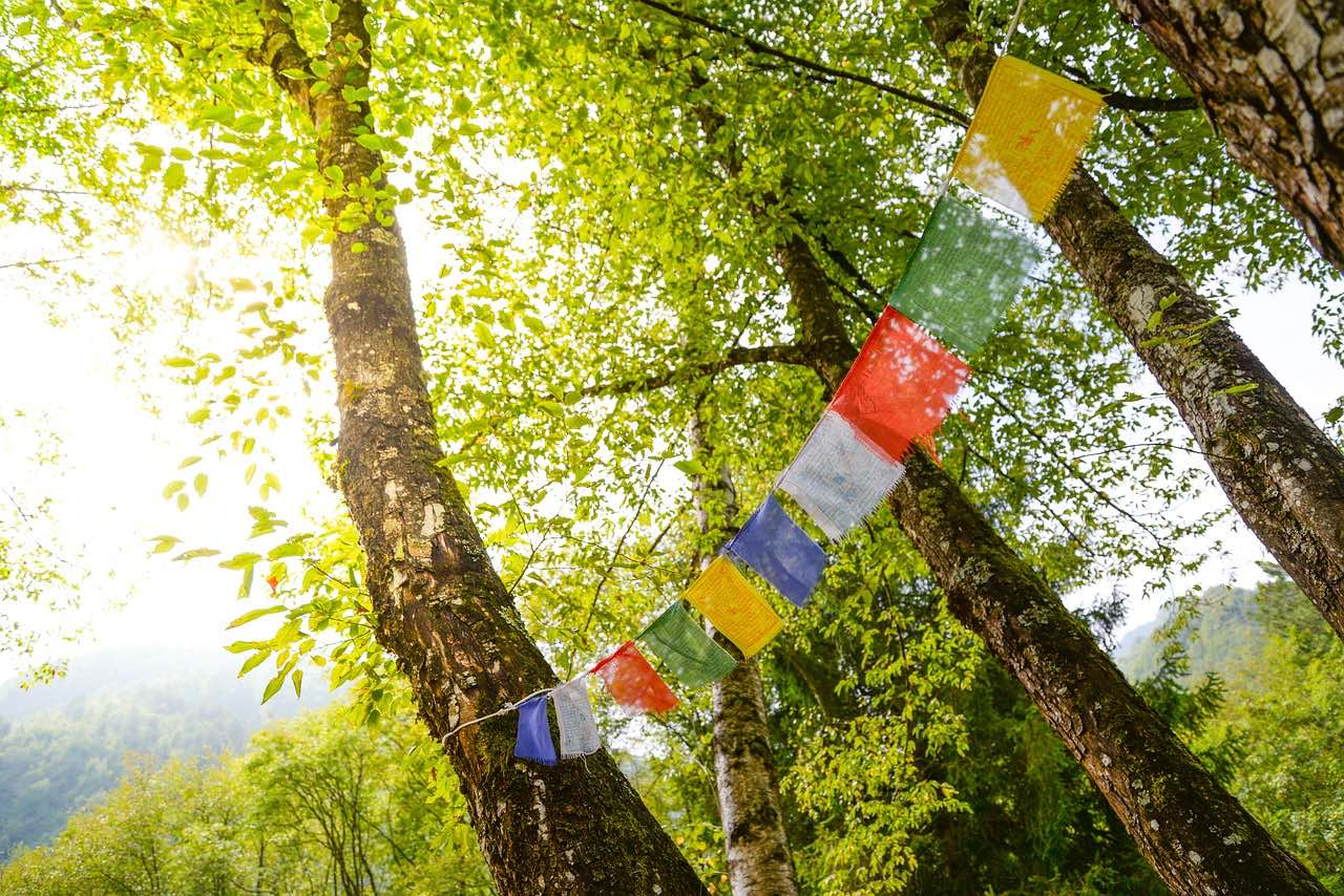 buddhist_tibet_prayer flag_PD