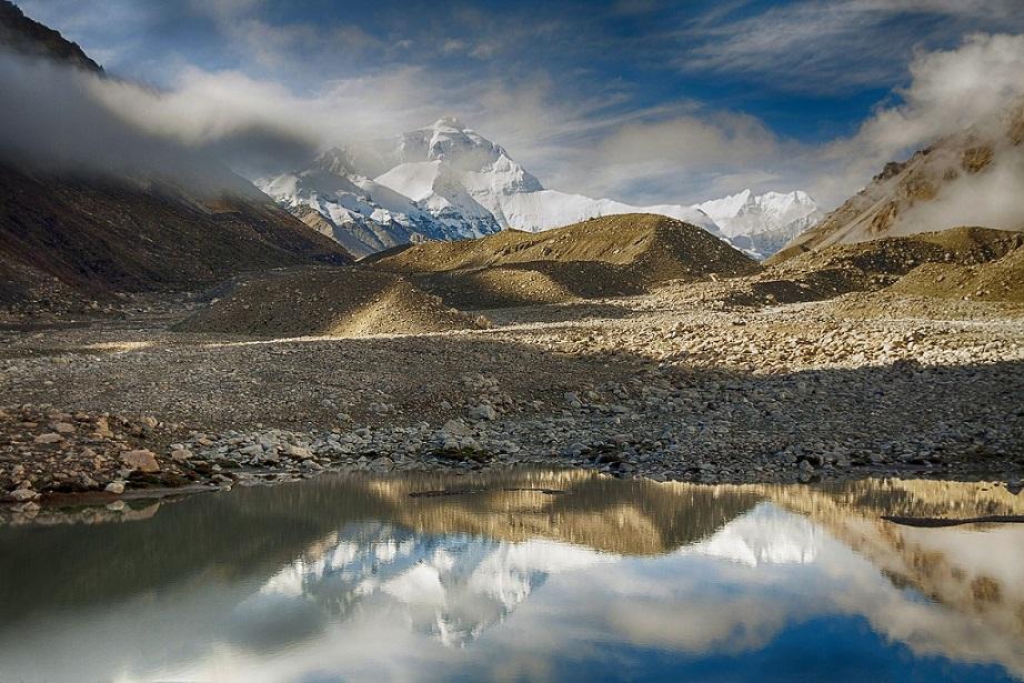 Mount Everest from Tibet_Tschomolangma_PD