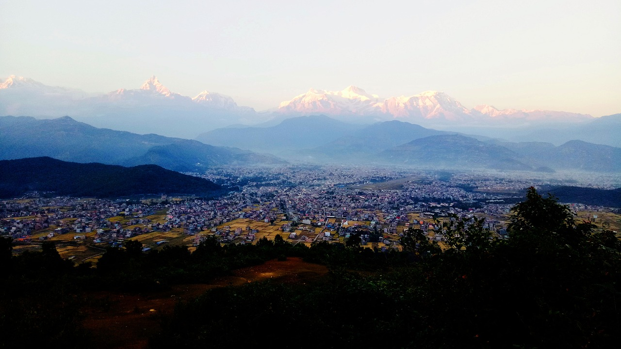 View from Pokhara Nepal_PD