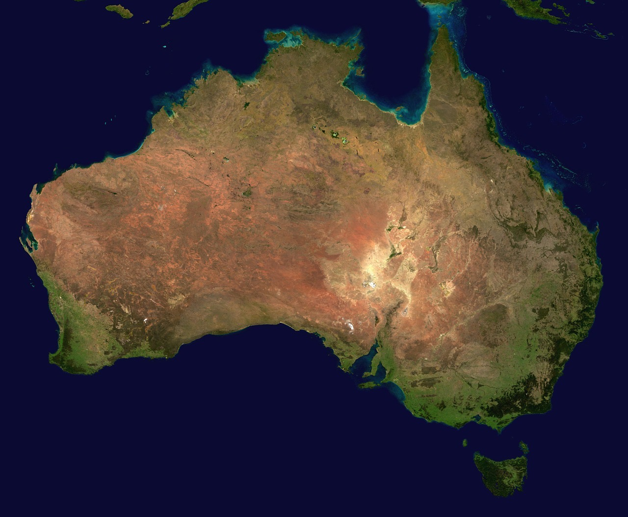 australia from above_PD