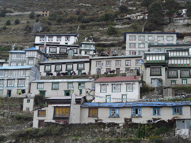 namche bazaar_sherpa village_everest_Nepal_PD