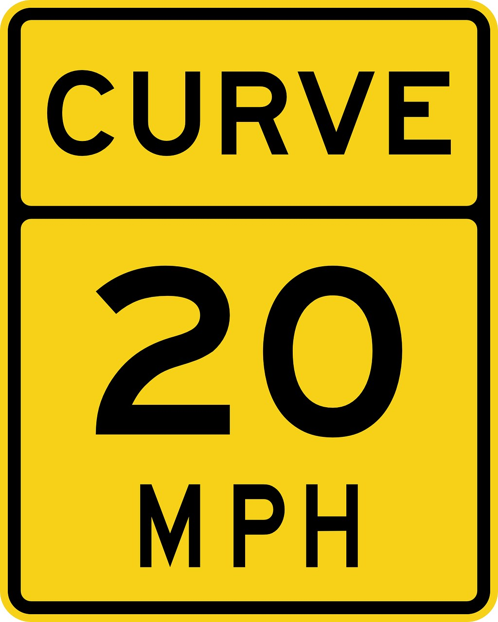 A road sign_speed mph_showing metric system used in the_ US_PD