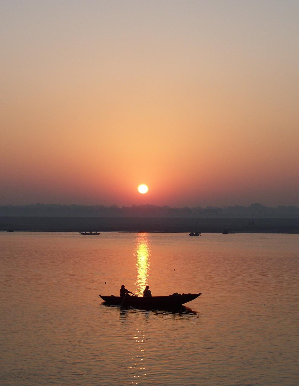 sunrise over river ganga_India_PD