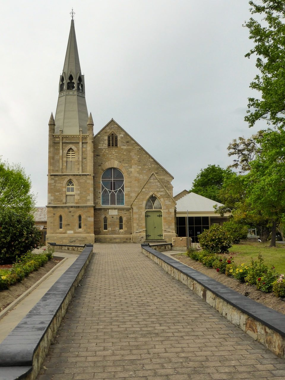 The twon Church in Hahndorf Australia_PD