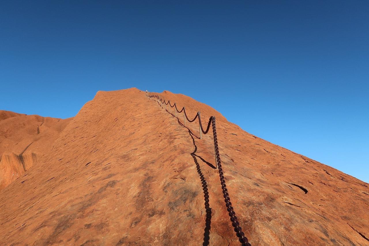 Climbing Uluru in Australia_PD