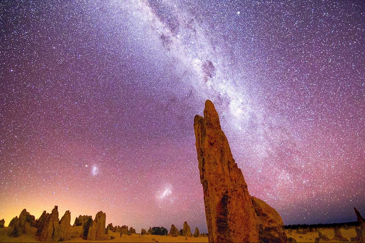 the Milky Way seen from The Pinnacles_Australia_PD
