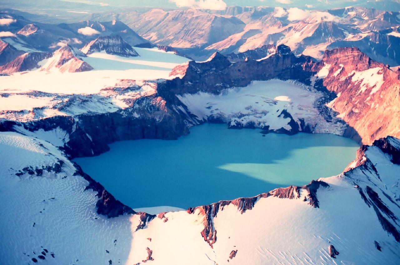 Mount Katmai_Dormant Volcano Crater_Alaska_PD