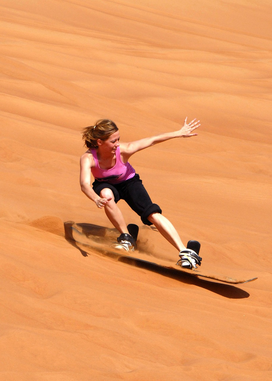 Sandboarding_a Sand Board in Sand Dunes_PD