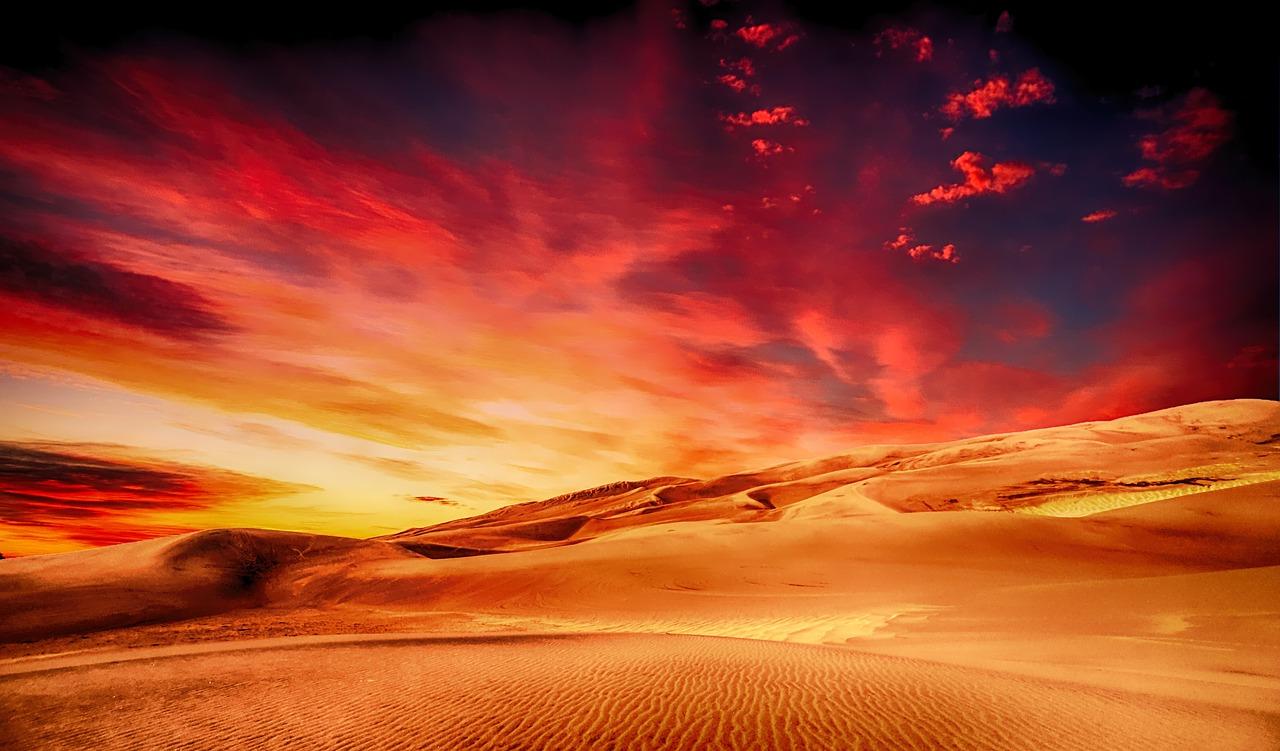 Sunset_Sahara Desert_PD