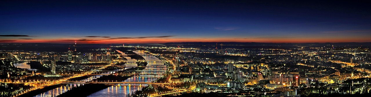 Vienna Panorama View at Night_Austria_PD