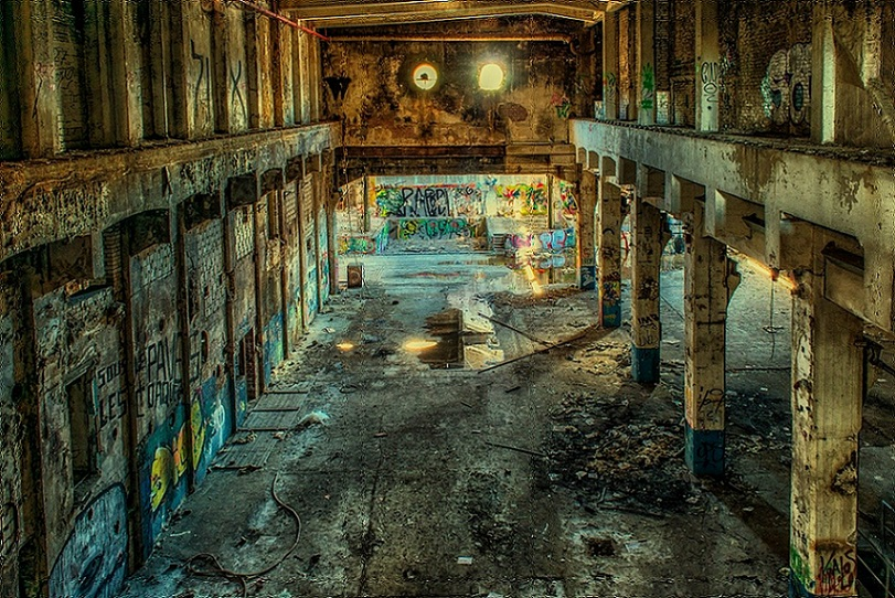 Abandoned Factory Hall Ruins Photography_PD