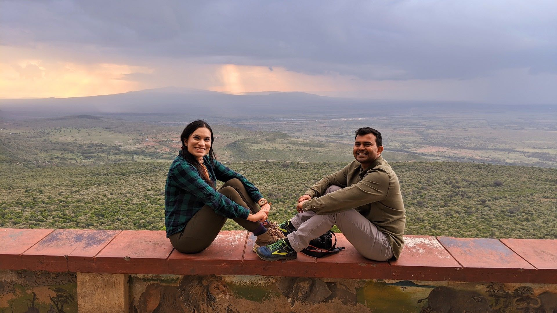 Neha and Salil at Great Rift Valley Viewpoint Kenya Africa_AOT