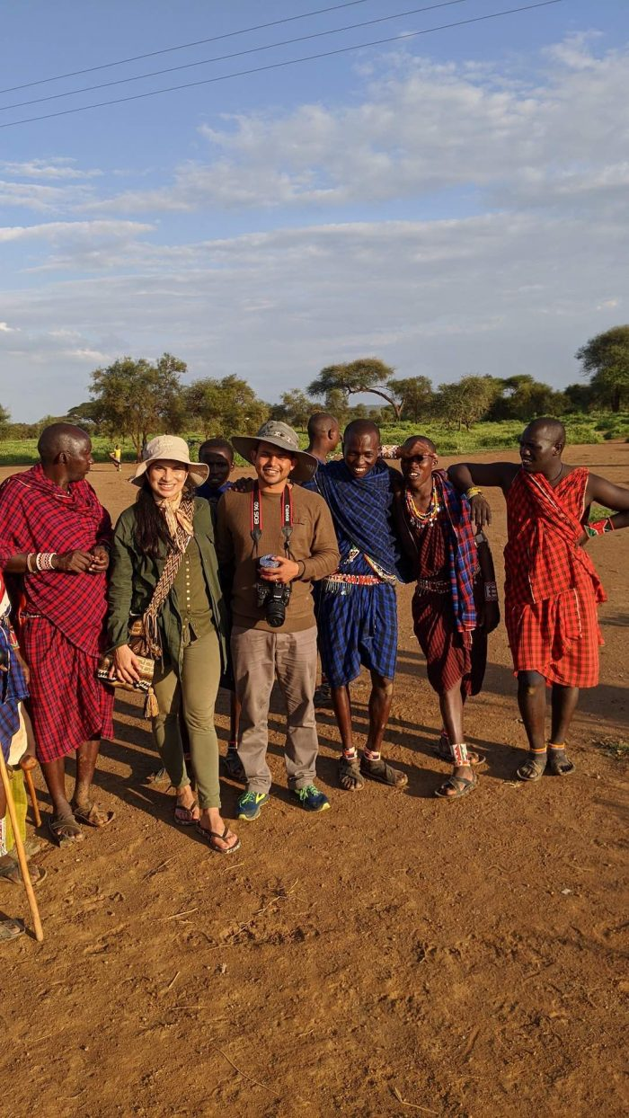 Neha and Salil with the Maasai tribe of Kenya Africa_AOT