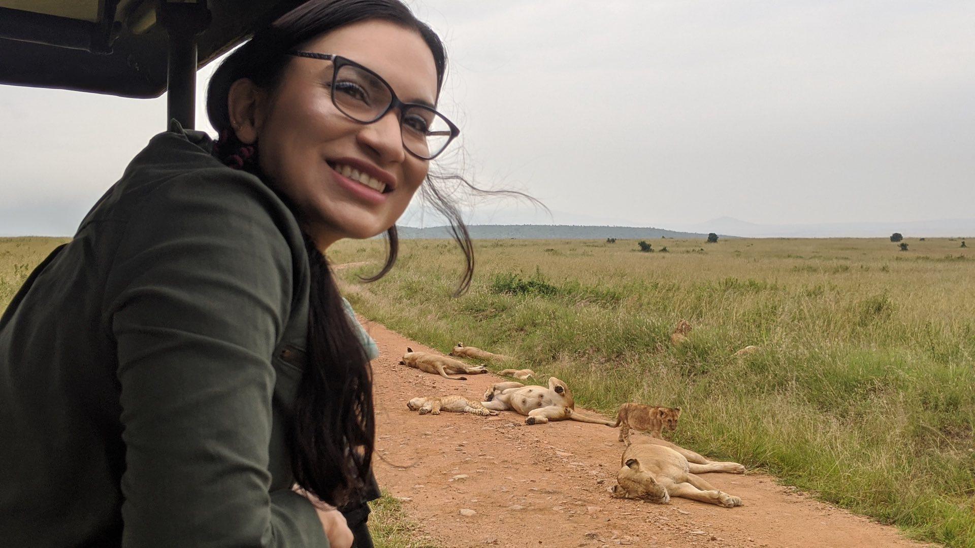 Neha in Maasai Mara Game Reserve Kenya Africa_Lion pride and cub_AOT