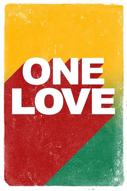 One Love Poster_Reggae_Bob Marley_Rastafari_Jamaica_PD