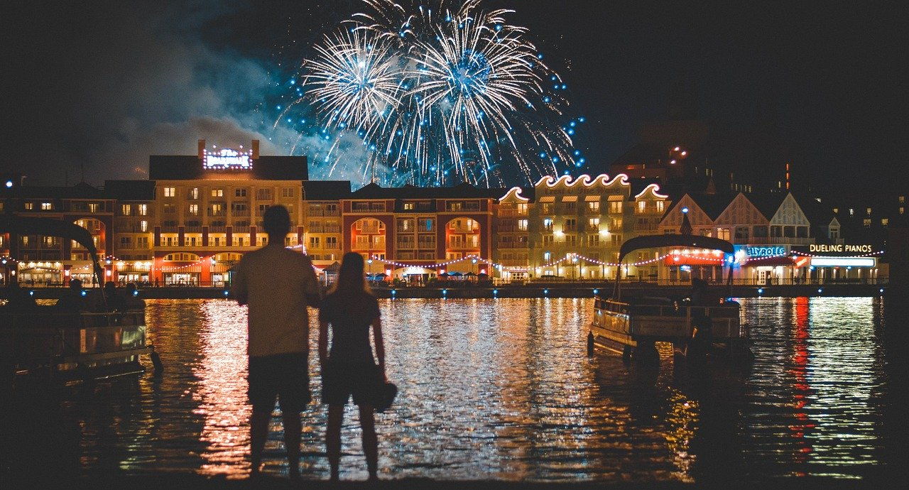 Fireworks at Disney World Boardwalk_PD