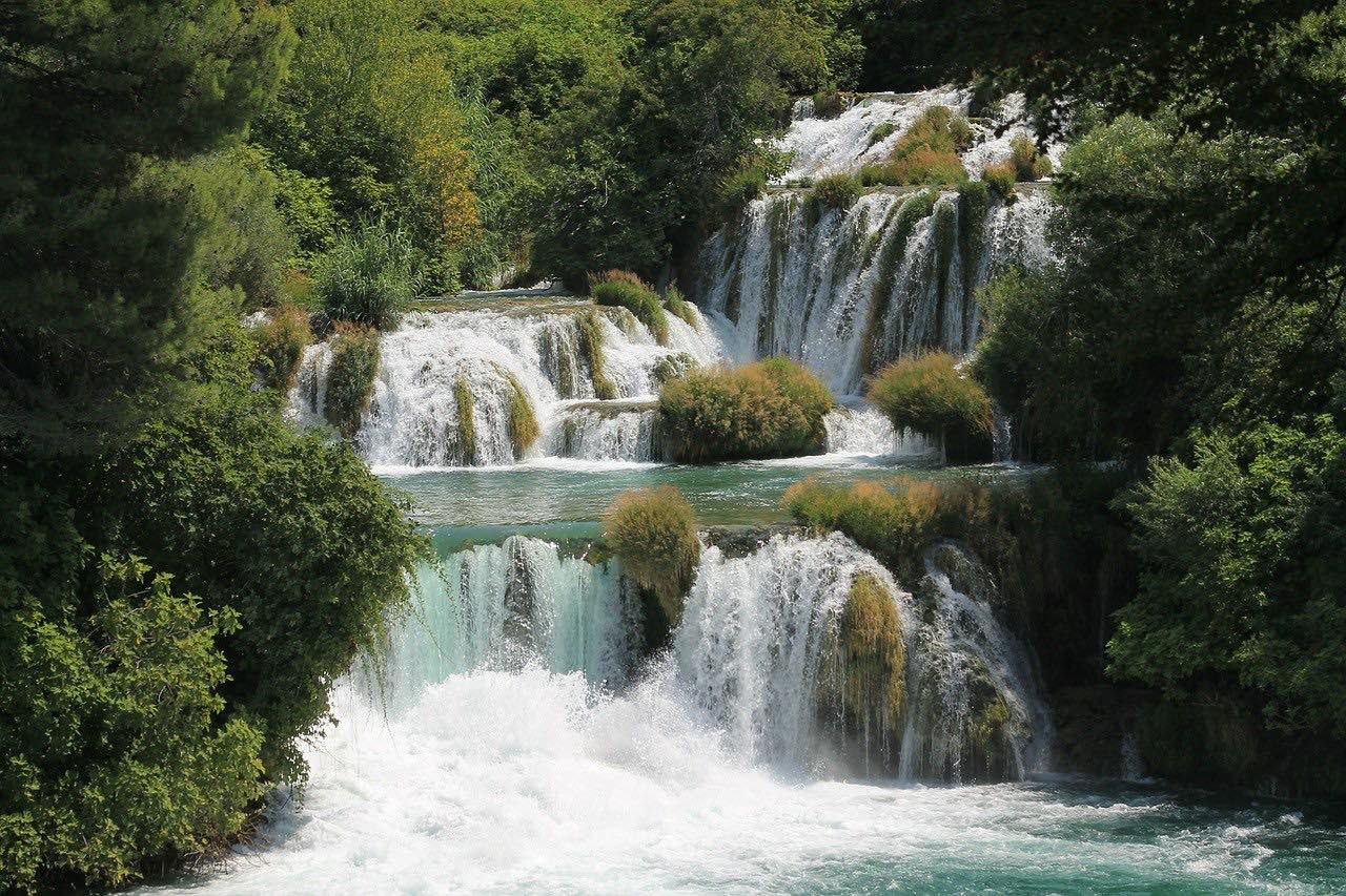 Waterfalls in Krka National Park in Croatia_PD