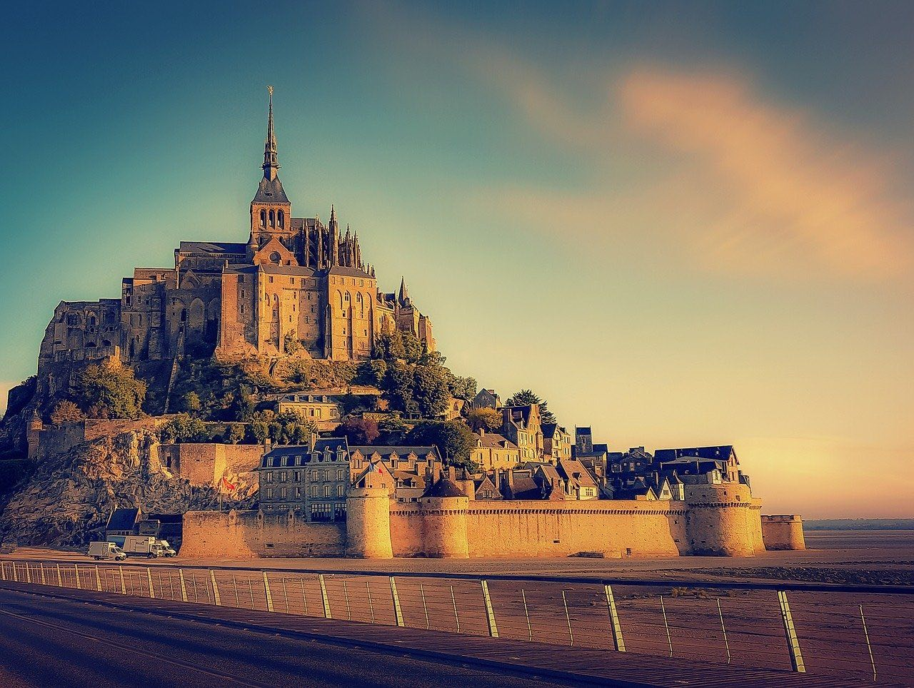 Mont Saint Michel Abbey Normandy France_PD