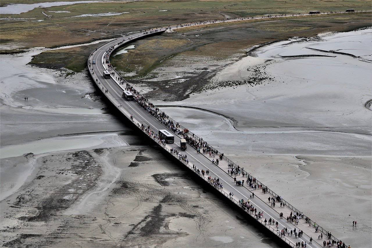 Mont Saint Michel Causeway_France_PD