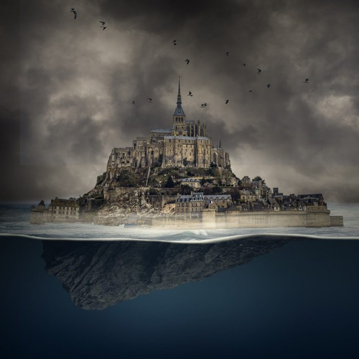 Mont Saint-Michel Island Bedrock_France Artist Conception_PD