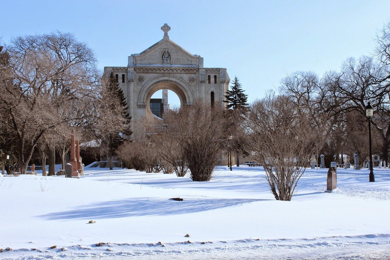 Ruins of St Boniface Cathedral Winnipeg Canada_PD
