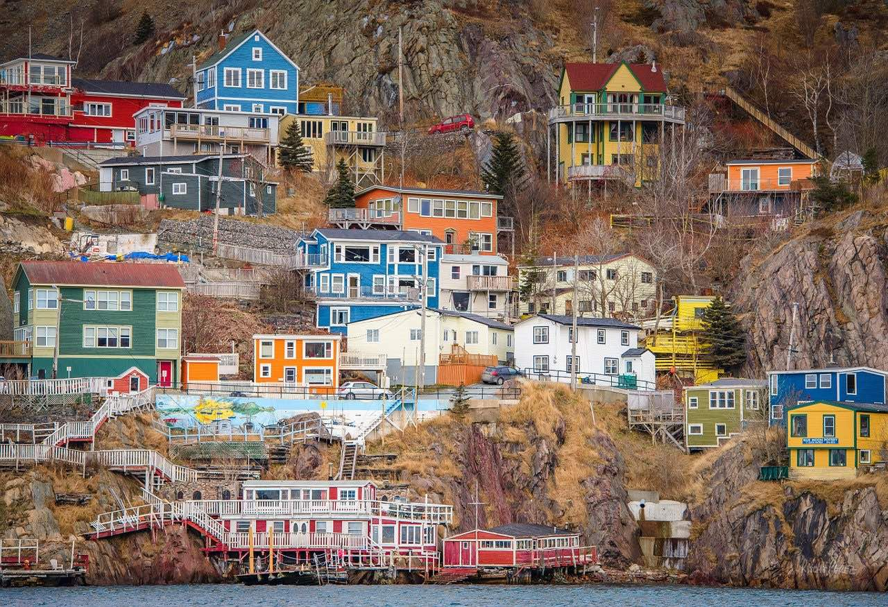 Battery Newfoundland St John's Colorful Houses_Canada_PD