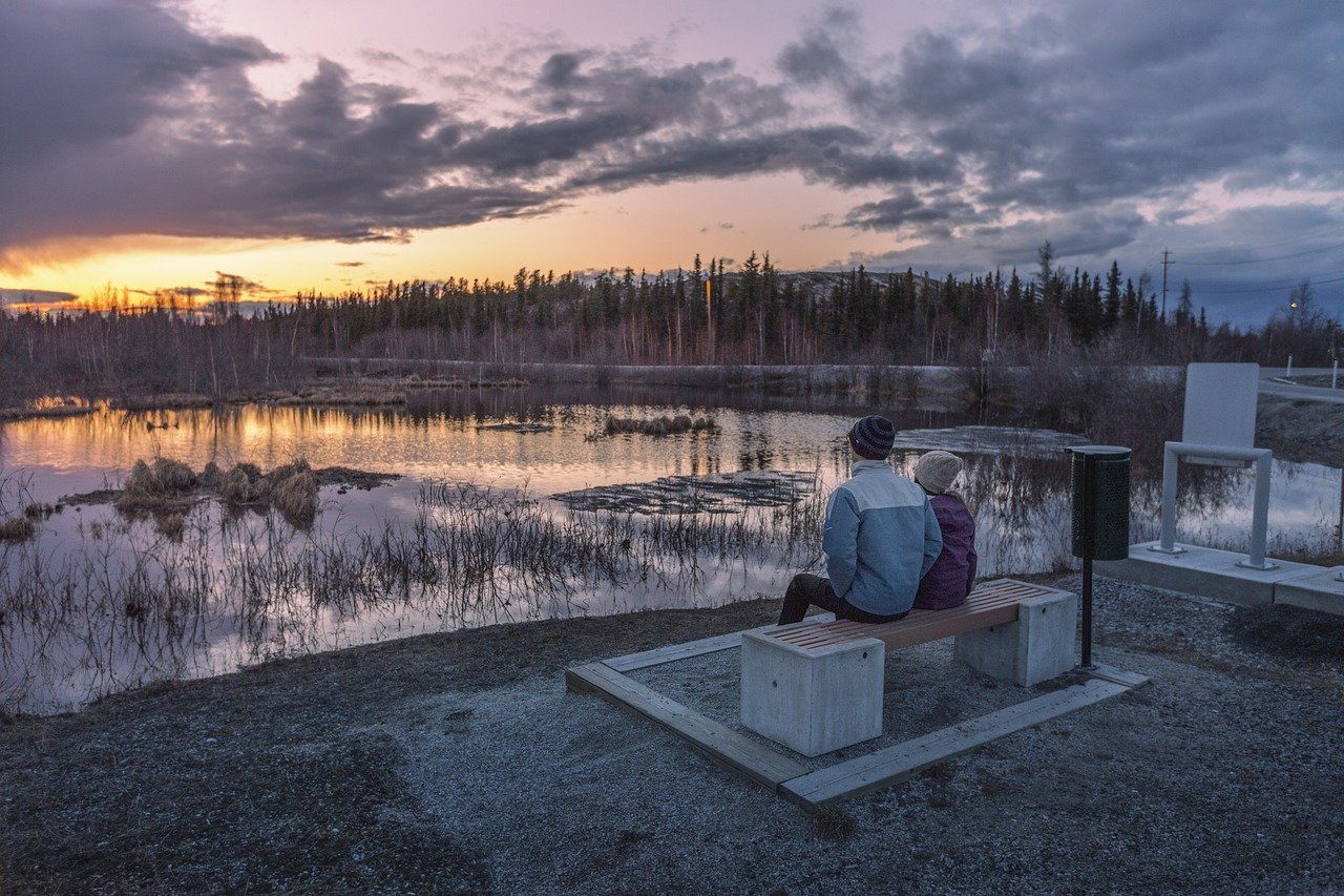 sunset in yellowknife canada northwest_PD