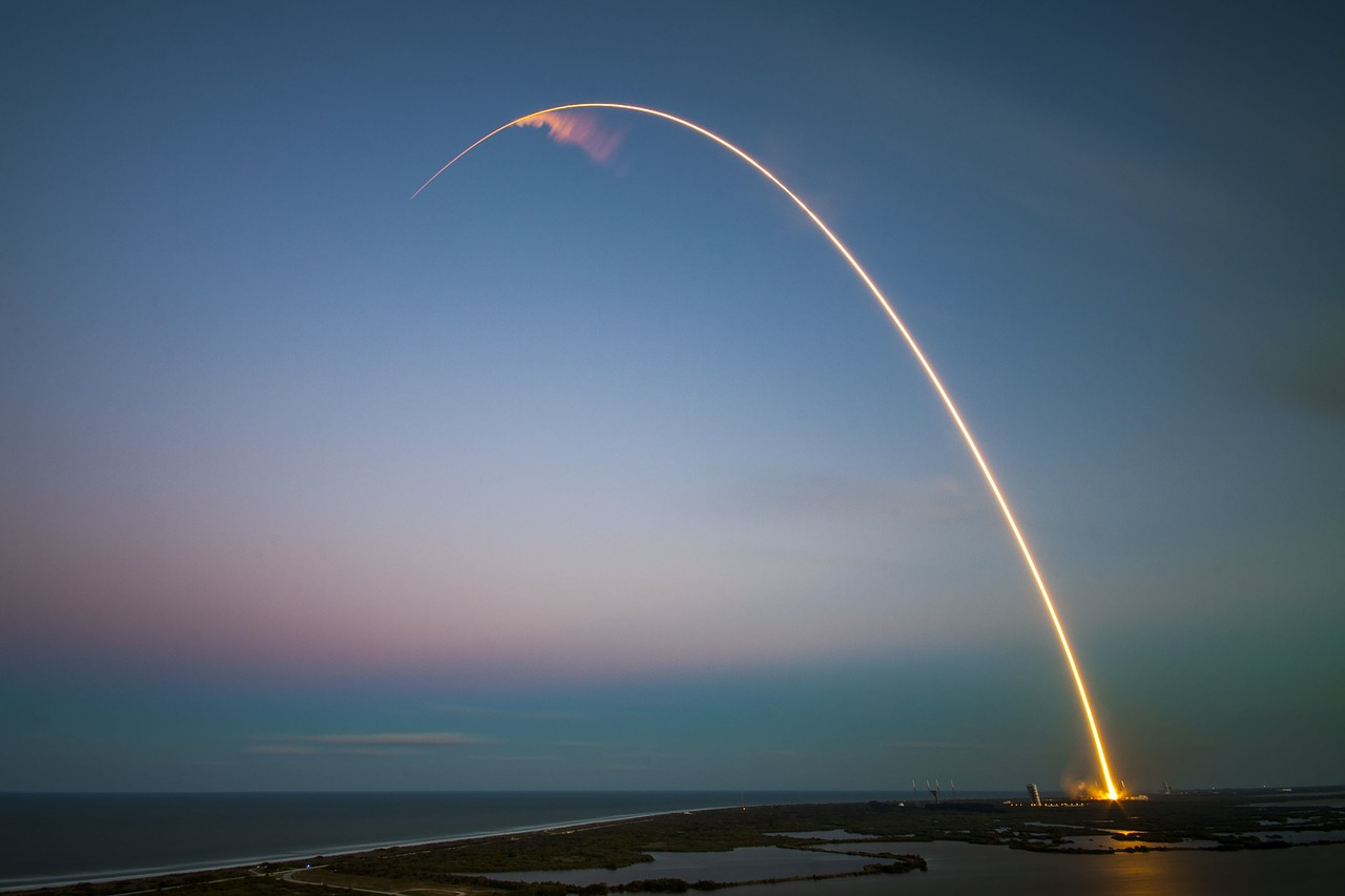 SpaceX rocket launch to Mars and Moon_PD