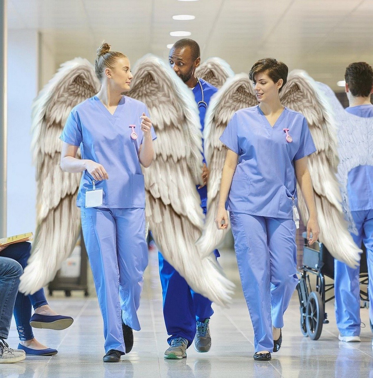 angels nurses and healthcare workers during Covid19_PD